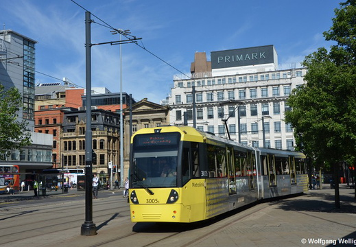 Manchester Metrolink, 3005, Piccadilly Gardens