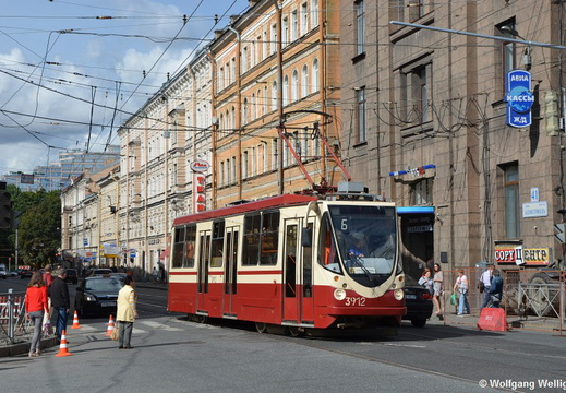 Saint Petersburg Tram, 3912, Площадь Ленина (Ploshchad' Lenina)