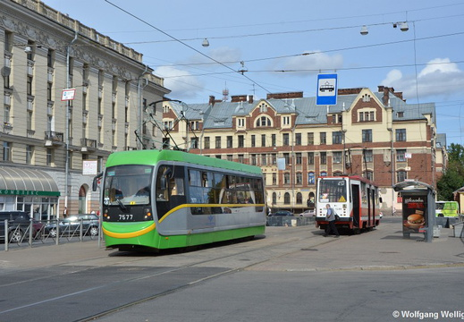 Saint Petersburg Tram, 7577, Финляндский вокзал (Finlyandskiy vokzal)