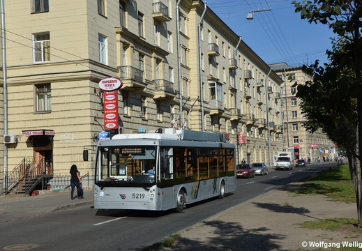 Saint Petersburg Trolleybus, 5219, Таллинская ул. (Tallinskaya ulitsa)