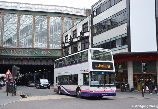 Glasgow Bus, First 32989, Central Station