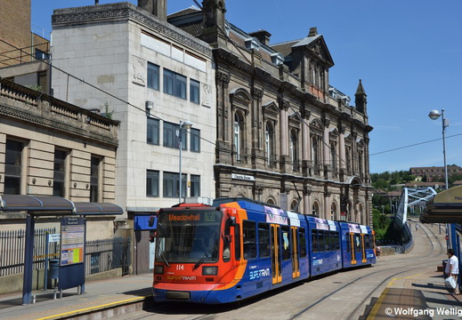 Sheffield Supertram, 114, Fitzalan Sqaure