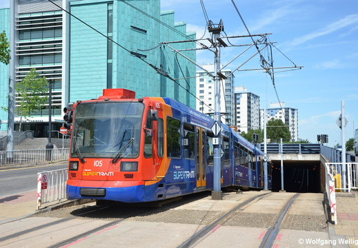 Sheffield Supertram, 105, University of Sheffield
