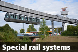 Special rail systems